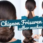 Chignon Frisuren: Einfach Haare hochstecken
