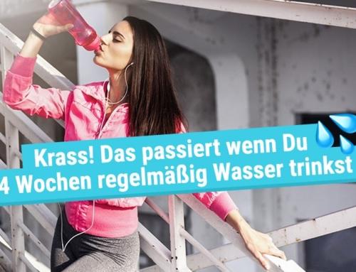 Krass! Das passiert wenn Du 4 Wochen regelmäßig Wasser trinkst