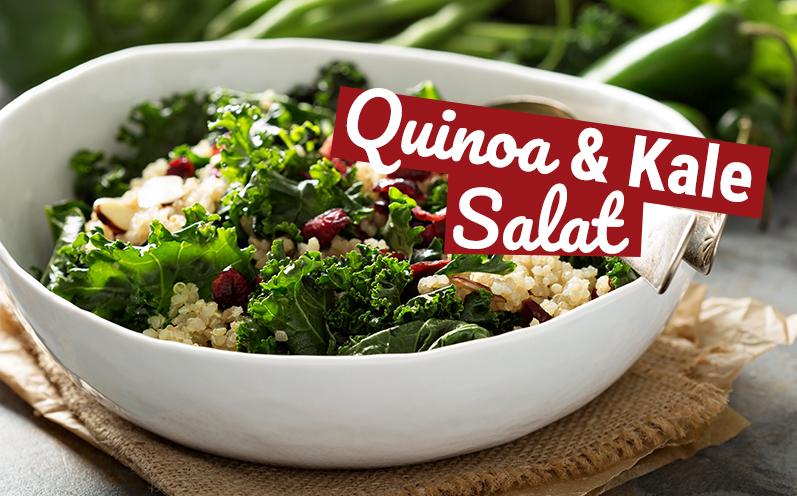Grünkohl und Quinoa Salat