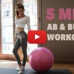 5 Minuten Booty und AB Workout