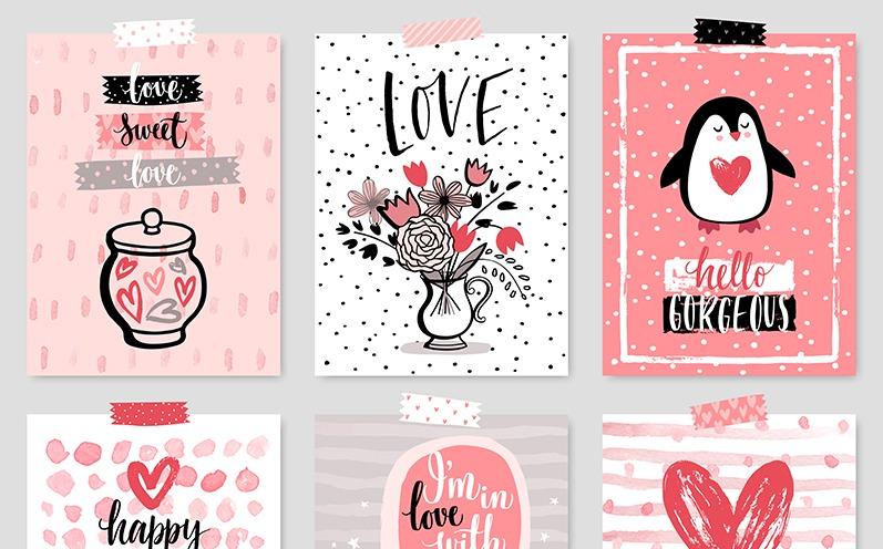 Valentinstagssprüche und Valentinstagskarten zum Ausdrucken