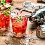 Erfrischende Sommer Cocktails Erdbeere
