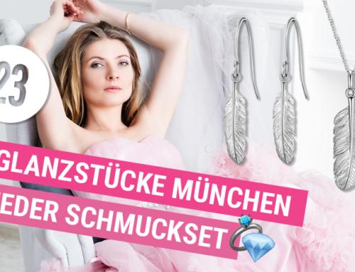 BEENDET: Adventskalender Türchen 23 – 2×1 Glanzstücke München Feder Schmuckset