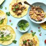 Hähnchen, Avocado Tacos