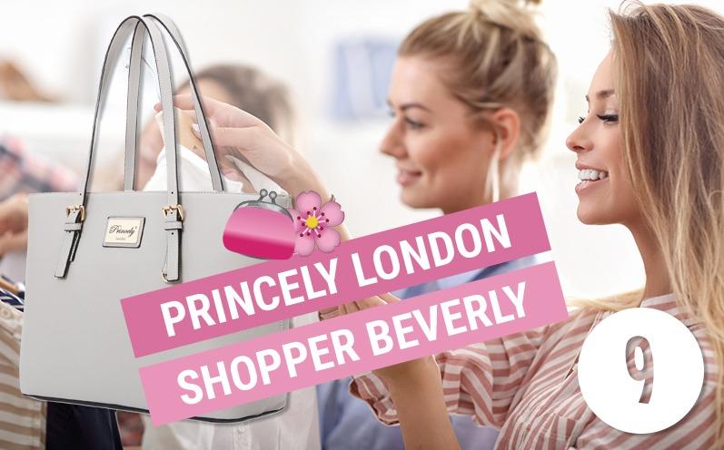 Adventskalender Türchen 9 - Princely London Shopper Beverly Kreidegrau