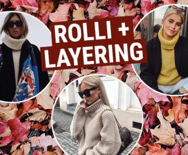 Trends im Spätherbst: Rollkragenpullover + Layering