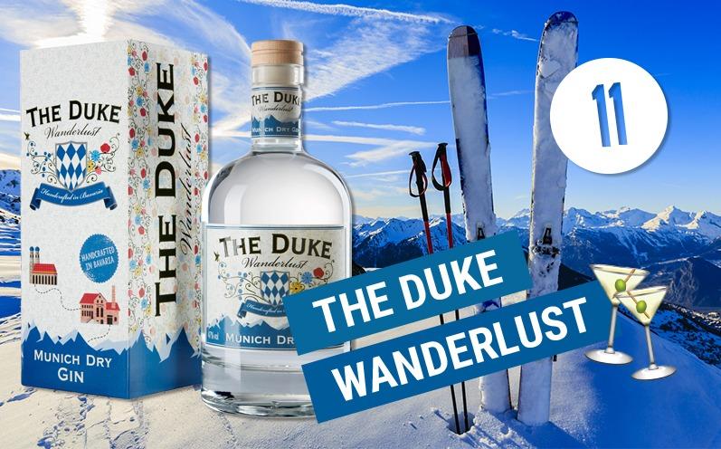 Adventskalender Türchen 11 - THE DUKE Wanderlust Gin Adventskalender 11