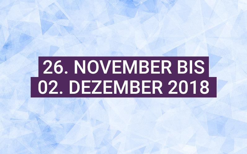 Dein Wochenhoroskop: 26. November bis 02. Dezember 2018
