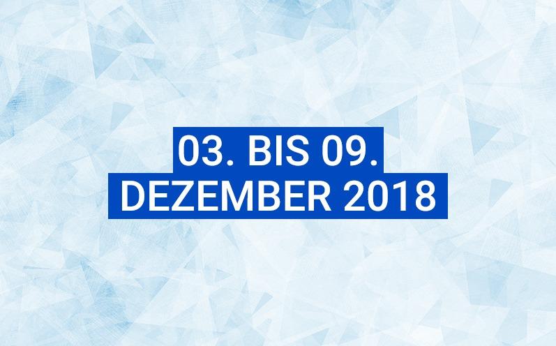 Dein Wochenhoroskop: 03. bis 09. Dezember 2018
