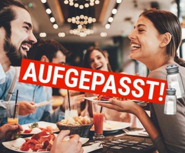 Aufgepasst! Verwende niemals den Pfefferstreuer in einem Restaurant!