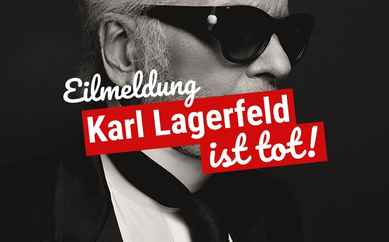 Eilmeldung: Modelegende Karl Lagerfeld ist tot