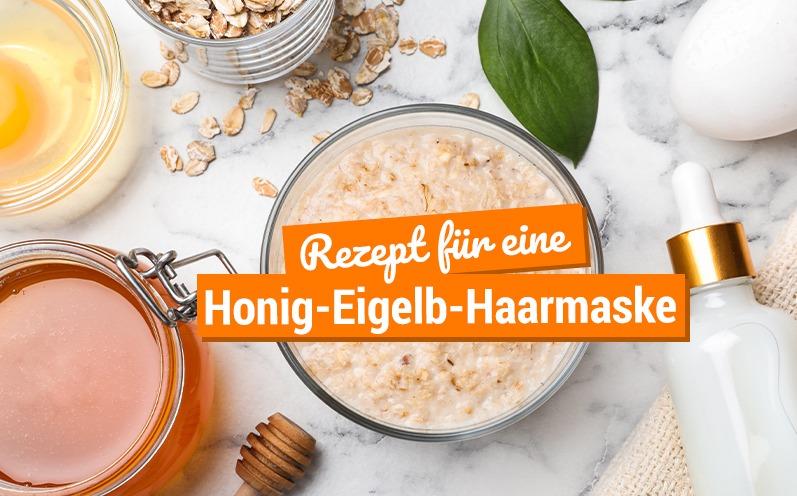 Honig-Eigelb-Haarmaske