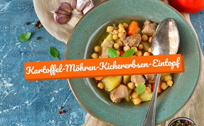 Eintopf-Rezepte: Kartoffel-Möhren-Kichererbsen-Eintopf