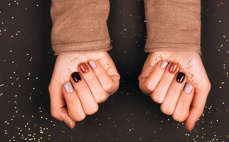 Herbstnägel-Trends: Multicoloured Nails